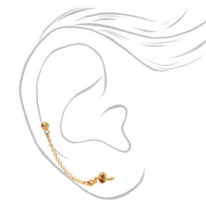 18kt Gold Plated Snake Connector Chain Stud Earrings,