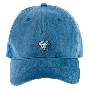 Denim Diamond Icon Baseball Cap - Blue,