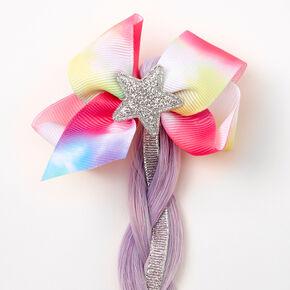 Claire's Club Rainbow Ombre Faux Hair Clip,