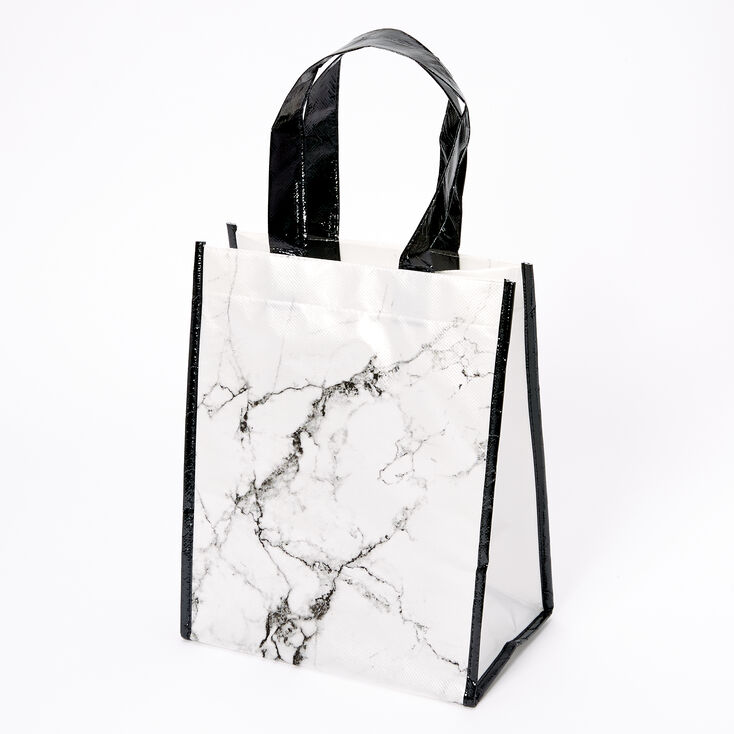 Marble Reusable Tote Bag - White,