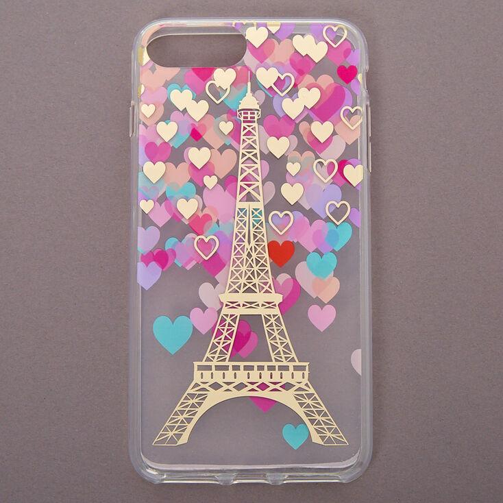 Parisian Romance Clear Protective Phone Case - Fits iPhone 6/7/8 Plus,