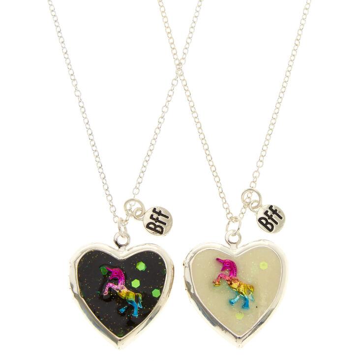Rainbow Unicorn Best Friend Lockets Necklaces,