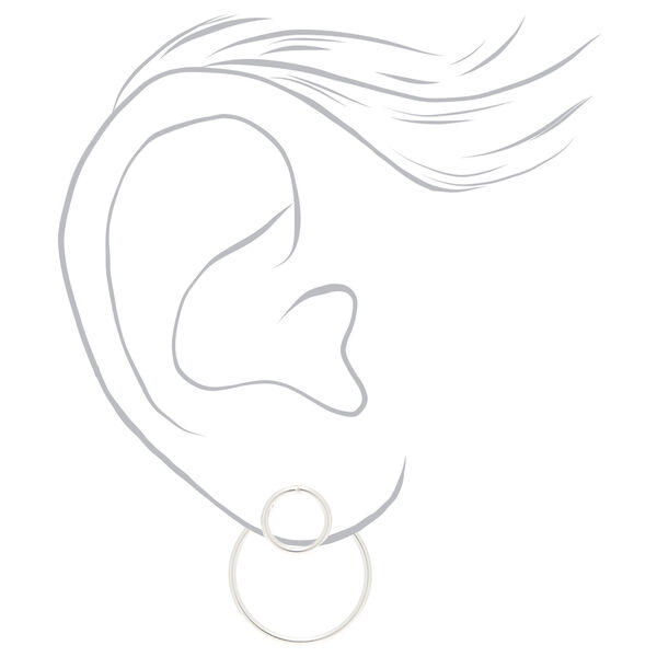 Claire's - sterling front & back circle earrings - 2