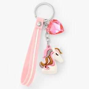 Silicone Unicorn Keyring - Pink,