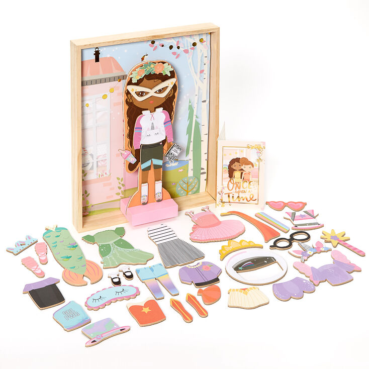 Story Magic™ Wooden Dress-Up Doll Playset,