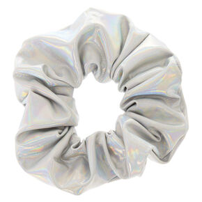 Medium Holographic Hair Scrunchie - Silver,