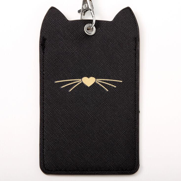 Cat Ears Lanyard - Black,