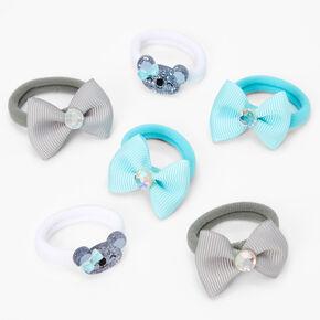 Claire's Club Glitter Koala Hair Ties - 6 Pack,