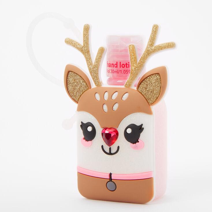 Glitter Reindeer Hand Lotion - Cherry,
