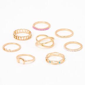 Sky Brown™ Gold Rings - 8 Pack,