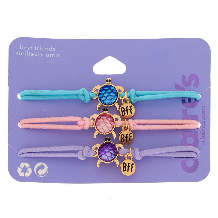Pastel Turtle Stretch Friendship Bracelets - 3 Pack,