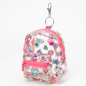 Sweet Treats & Friendly Critters Mini Backpack Keychain,