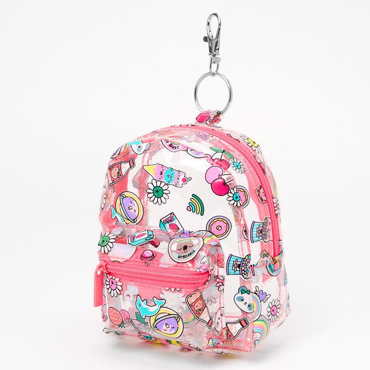 Porte-clés mini sac à dos petits animaux gentils et gourmandises sucrées,