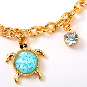 Gold Under the Sea Charm Bracelet - Mint,