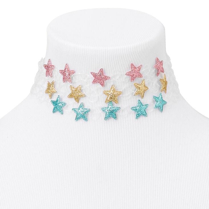 Glitter Stars Tattoo Choker Necklaces - 3 Pack,