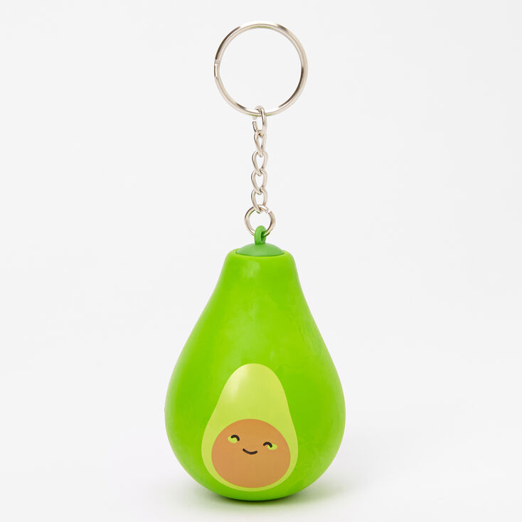 Avocado Stress Ball Keychain - Green,