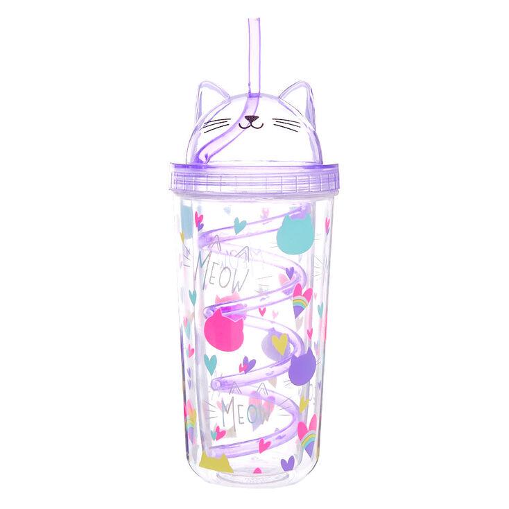 Cat Love Tumbler Cup - Purple,