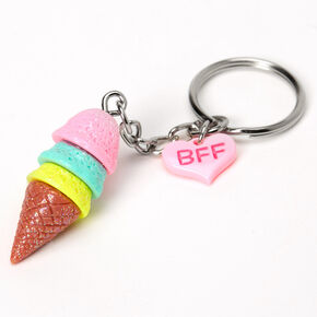 Ice Cream Cones Best Friends Keychains - 3 Pack,