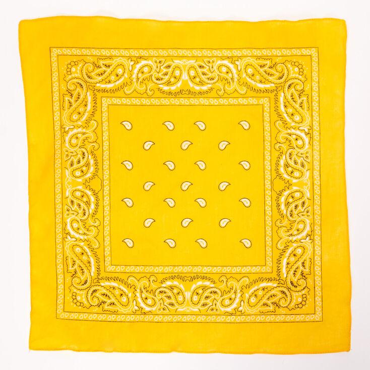Paisley Bandana Headwrap - Mustard,
