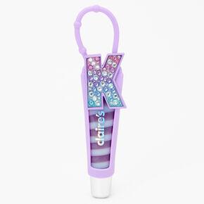 Initial Lip Gloss Tube - Purple, K,