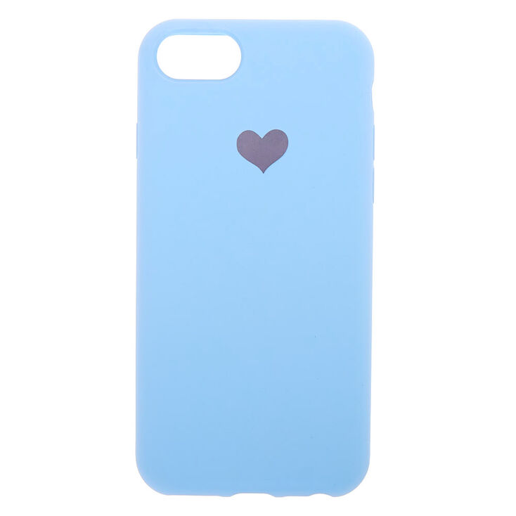 Baby Blue Heart Phone Case - Fits iPhone 6/7/8/SE,