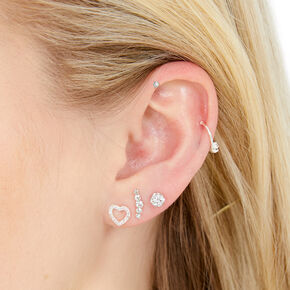 Silver Ear Party Set,