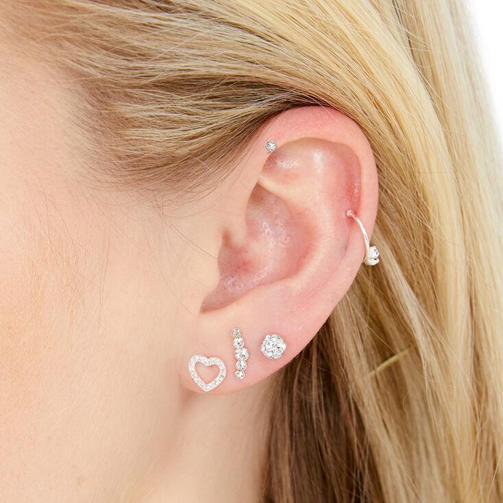 Silver Ear Party Set,