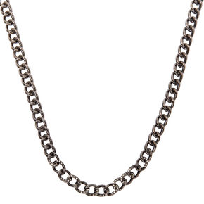 Hematite Embellished Chain Necklace,
