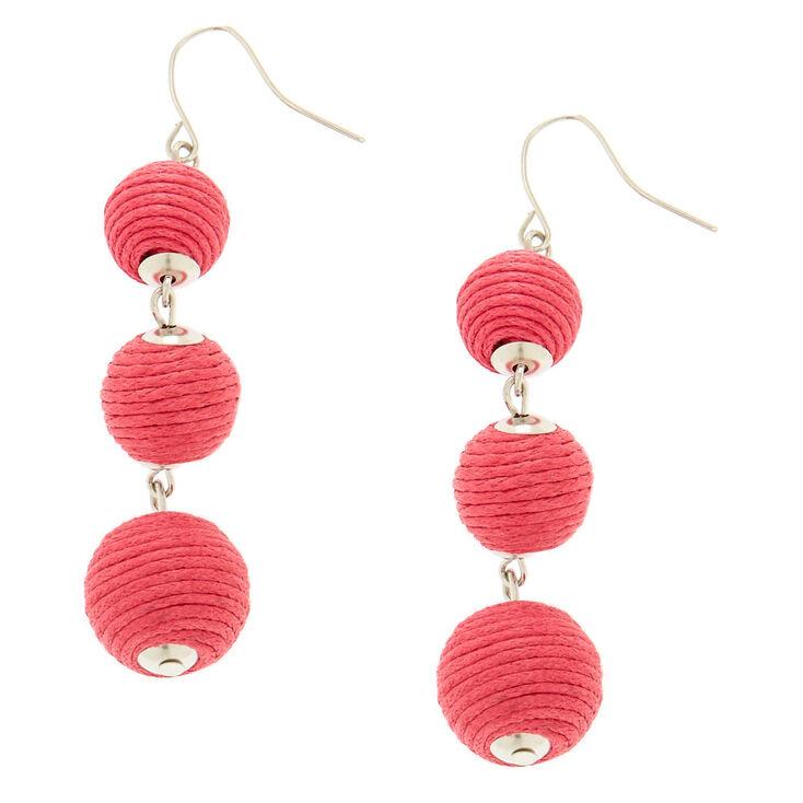 Pink Ball Drop Earrings,