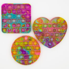 Tie-Dye Pastel Push Poppers Fidget Toy – Styles May Vary,