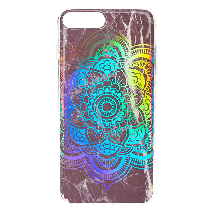 outlet store 17486 2319b Black Marble Holographic Mandala Phone Case - Fits iPhone 6/7/8