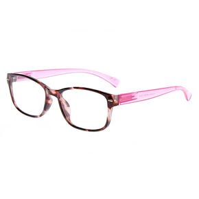 Rectangle Clear Lens Frames - Pink,