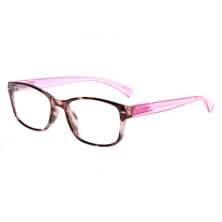 Rectangle Clear Lens Frames - Pink,