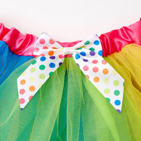 Satin Trim Rainbow Tutu,