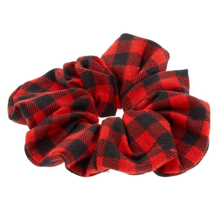 Medium Buffalo Check Hair Scrunchie - Red,