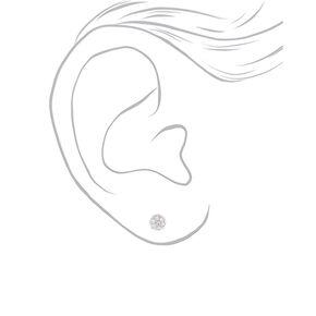Lot de 3 boucles d'oreilles en argent avec cœur de boule de feu,