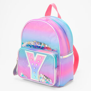 Ombre Shaker Initial Mini Backpack - Y,