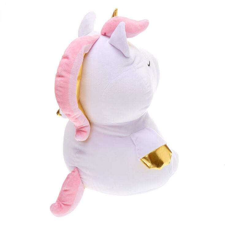 "Claire's Club 5"" Unicorn Soft Toy - White,"