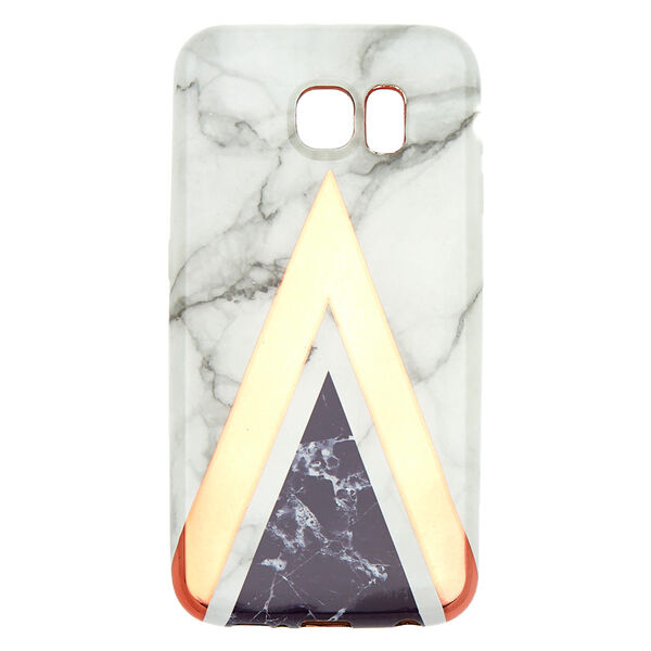 Claire's - geometric marble phone case - 1