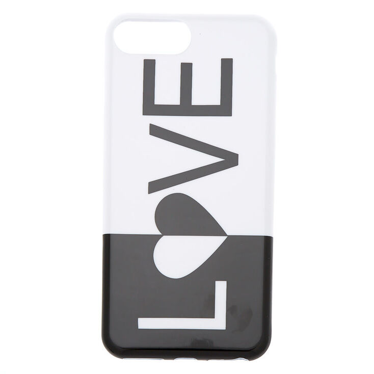 Black and White Love Phone Case - Fits iPhone 6/7/8 Plus,