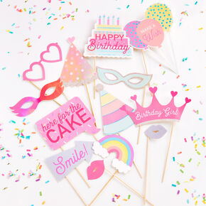Birthday Party Photo Props - 13 Pack,