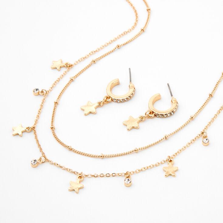 Gold Embellished Star Jewellery Set - 2 Pack,