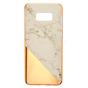 Rose Gold and Marble Phone Case - Fits Samsung Galaxy S8 Plus,