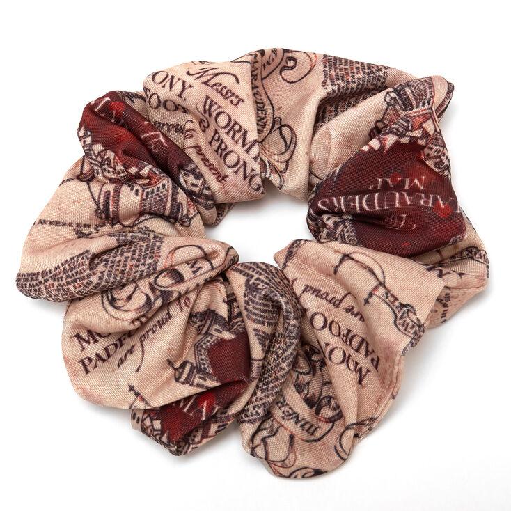 Harry Potter™ The Marauder's Map Velvet Scrunchie – Beige,