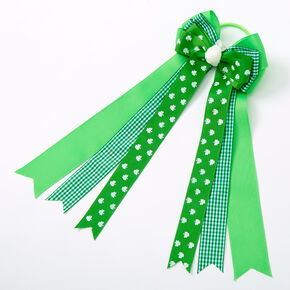 St. Patrick's Day Bow Ribbon Hair Tie - Green,