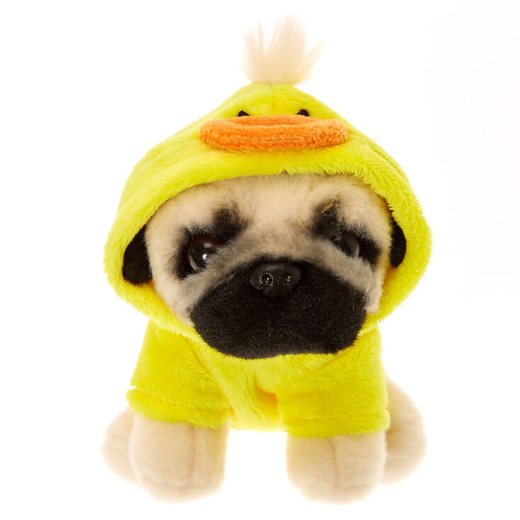 Doug The Pug Small Duck Soft Toy Cream Claires