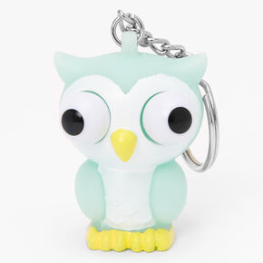 Owl Eye Pop Keychain - Mint,