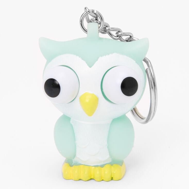 Owl Eye Pop Keychain - Mint,