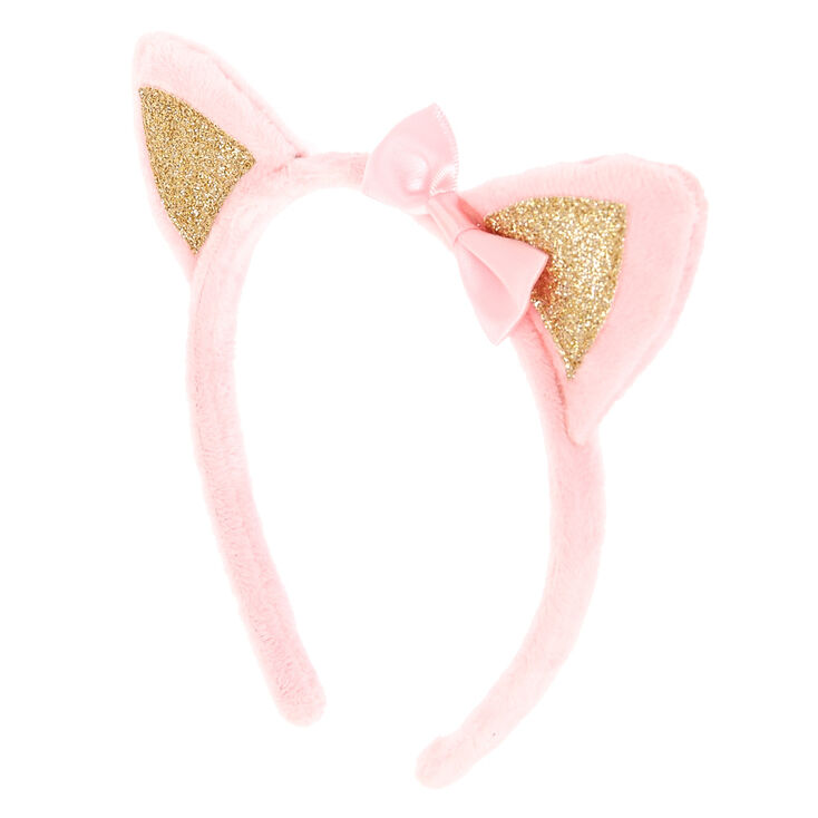 Claires Club Plush Cat Ears Headband Pink