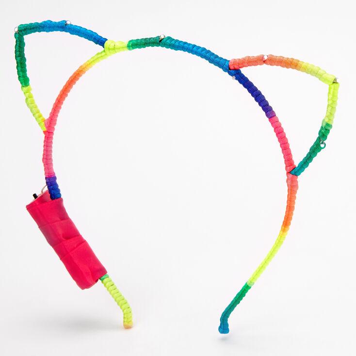 Light Up Rainbow Cat Ears Headband,